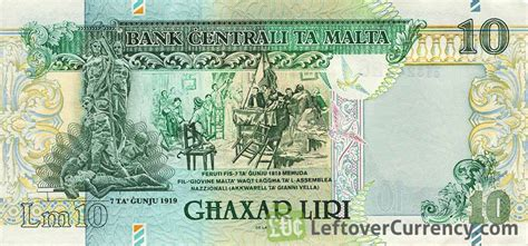 bis wann 10 maltese lira banknote exchange yours for today