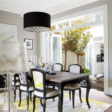 yellow dining room table yellow and black dining room with dining table
