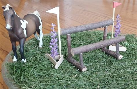 Red Barn Kennel How To Make A Schleich Double Rail Cross Country Jump