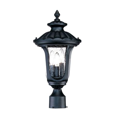 Acclaim Lighting Augusta 3 Light Matte Black Outdoor Post Outdoor Lighting Post Mount