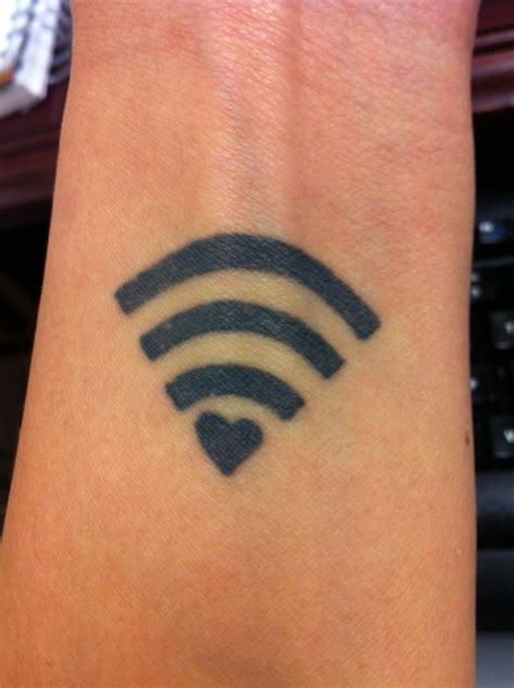 geek tattoo wifi signal on wrist
