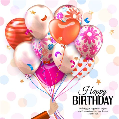 beautiful balloons  birthday background vector