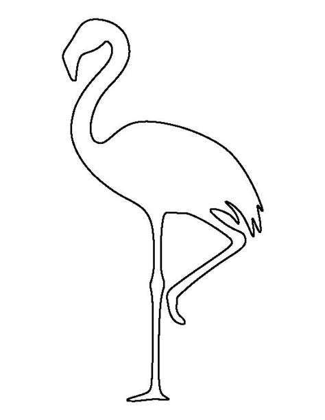 flamingo template flamingo pattern use the printable outline for crafts