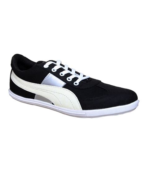 buy sukun black white trendy casual shoes for