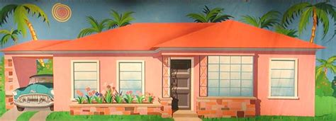 50s house backdrops 50 s house