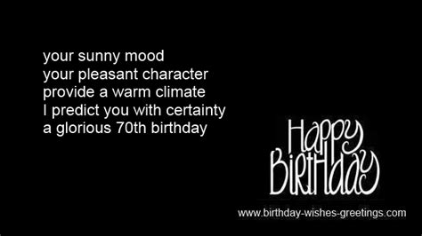 70th Birthday Greetings Quotes 70th Birthday Poems And Quotes Quotesgram