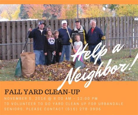fall yard clean up
