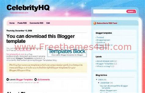 blogger templates for celebrities free blogger celebrity blue web2 0 template