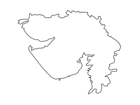 Odisha Map Outline by Black And White Map Of Gujarat India Pictures To Pin On Pinsdaddy