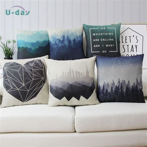 cheap throw pillow covers forest cushion cover city pillow sofa home decoration