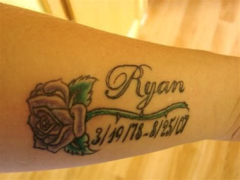 ryan tattoo on arm