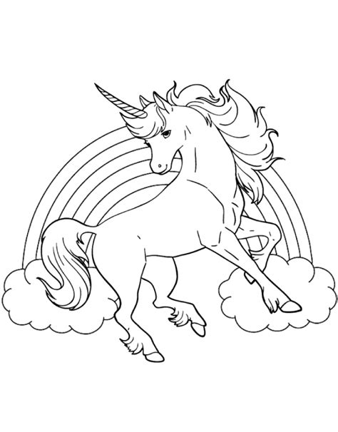 unicorn with rainbow coloring page pictures of rainbows and unicorns az coloring pages