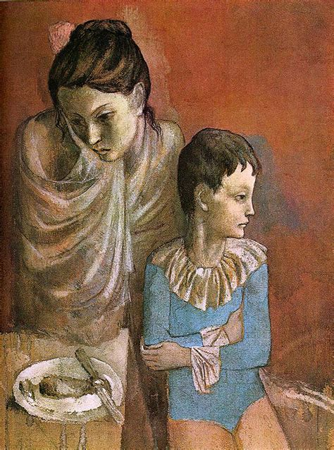 picasso paintings when he was a child anjas theme of the week picasso week 3 the period