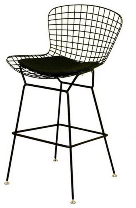 bertoia wire bar stool baxton studio black wire barstool contemporary bar stools and counter stools by baxton studio
