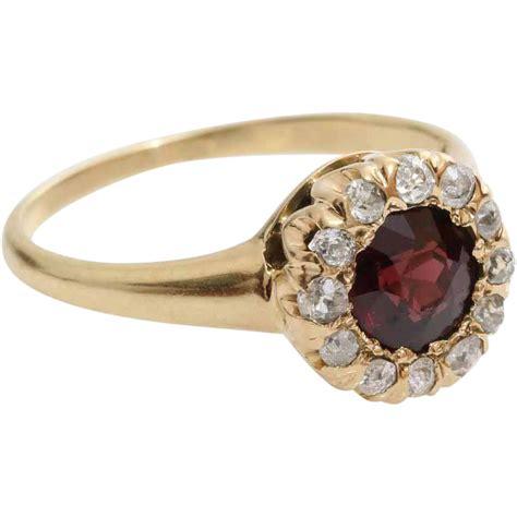 garnet ring 14k yellow gold