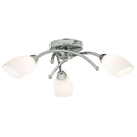 3 Light Semi Flush Ceiling Light Searchlight 8183 3cc Opera 3 Light Polished Chrome Semi Flush Ceiling Light