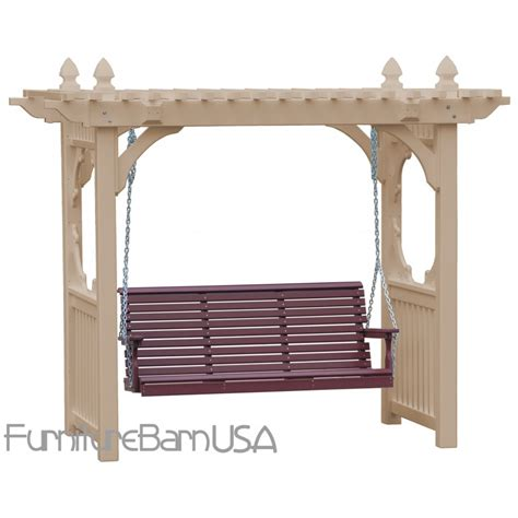 vinyl porch swing luxcraft polywood outdoor vinyl classic porch swing stand