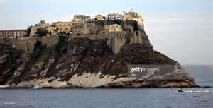 Buildings On Cliff Boats In Sea Italy Stock Photo   Getty