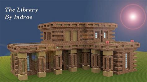 Home Building Blueprints The Library Minecraft Project