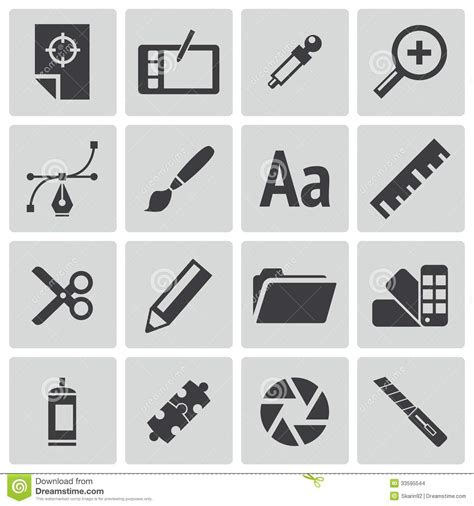 typography icon vector black graphic design icons stock illustration