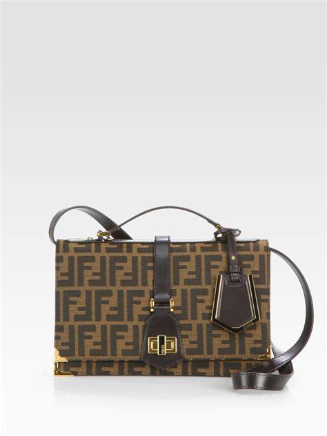 Fendi Classic by Fendi Classic No 1 Jacquard Messenger Bag In Brown Lyst
