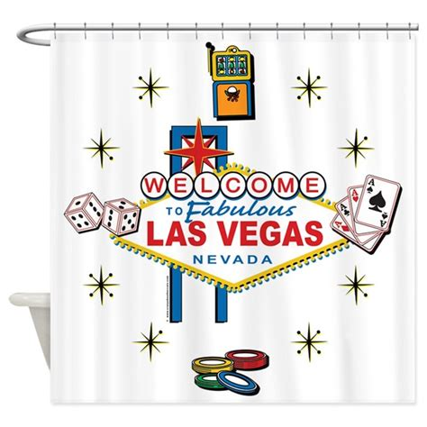 las vegas shower curtain welcome to fabulous las vegas shower curtain by vegastease