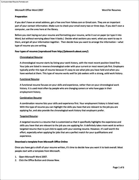 resume ms office resume templates