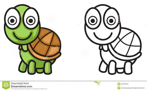 libro minicuentos de tortugas y tortuga colorida y blanco y negro para el libro de colorear ilustraci 243 n del vector ilustraci 243 n
