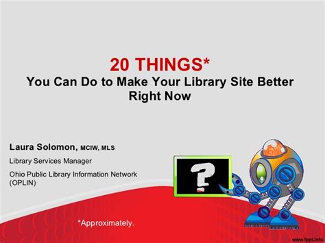 website where you can draw 20 things you can do to make your library s website better