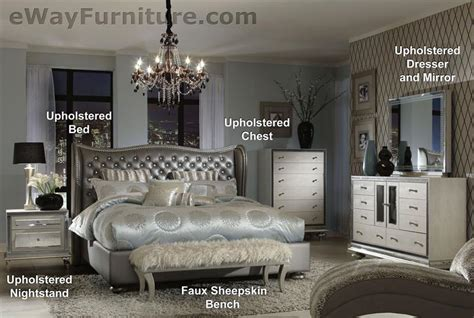 Parker Bookcase Metallic Graphite Tufted Leather And Crystal Bed