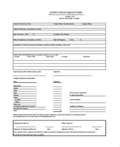 booking request form template sle travel request form 9 free documents in