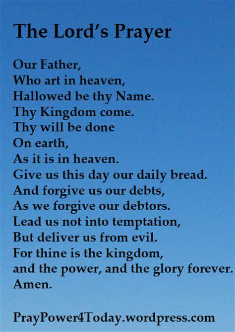 The Lord Prayer the lord s prayer praypower4today