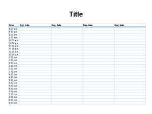 printable schedule 15 minute increments 28 images of 15 minute increment schedule template
