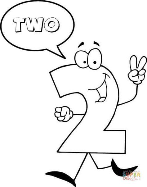 como decorar os numeros em ingles dibujo de el n 250 mero 2 se dice dos para colorear dibujos
