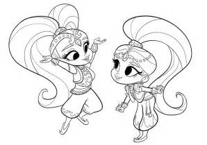 shimmer and shine coloring pages printable shimmer and shine coloring pages only coloring pages