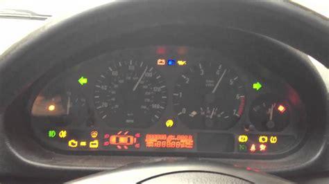 bmw dashboard lights bmw 316 ti e46 dashboard diagnostic light test