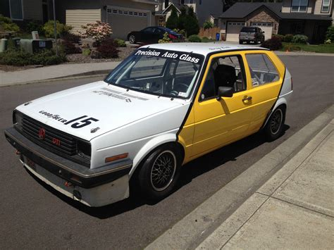 volkswagen race car vw golf gti 16v race car classic volkswagen golf 1985