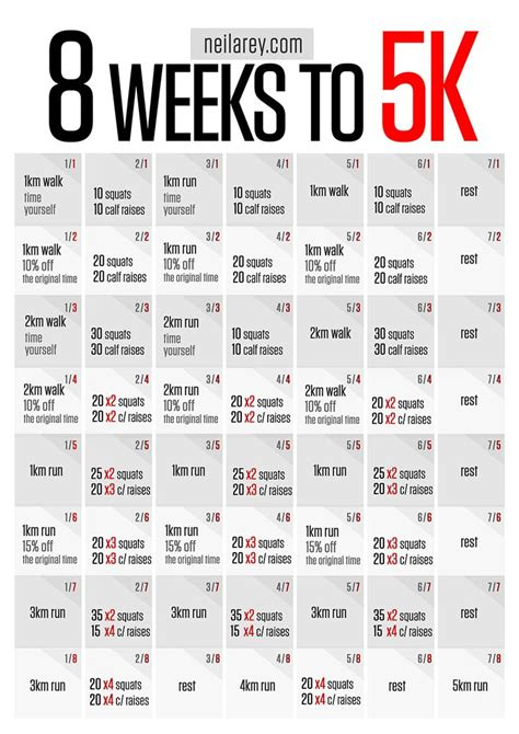 Running From To 5k by Running Program 8 Week To Running 5k Pinyourresolution Fit2014 Running Fitness One Sheets