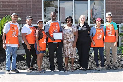 home depot on west road beautifies grounds of reed academy