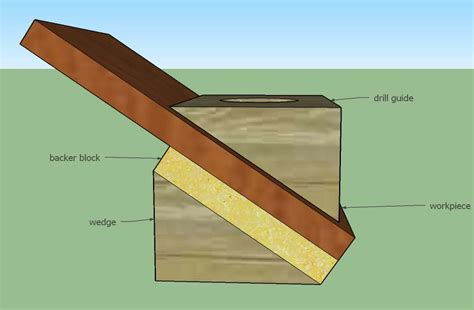 degree in woodworking tools best method for drilling a larger diameter at