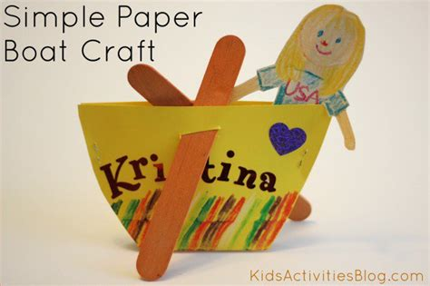 row row your boat craft 45 nursery rhyme crafts how wee learn