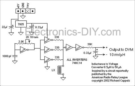 circuit diagram of inductance meter inductance meter