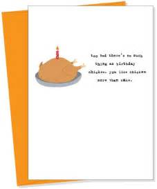 chicken birthday card birthday chicken greeting card from uncooked