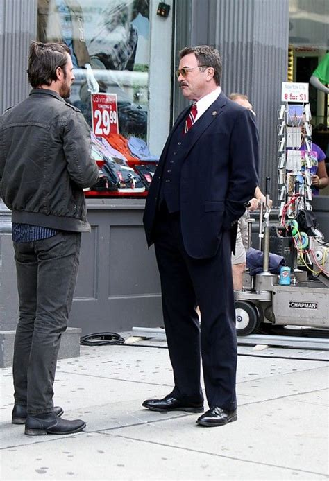 blue bloods on pinterest 193 pins kevin selleck tom selleck on the set of quot blue bloods