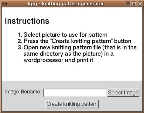 video forge pattern generator kpg knitting pattern generator