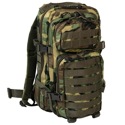 molle packs mil tec molle us assault pack small woodland backpacks
