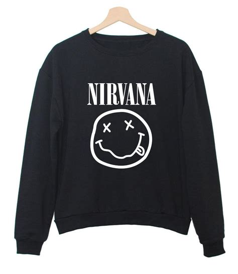 Hoodie Sweater Nirvana Fashion Family Nirvana S Casual Black White Crewneck Sweatshirt