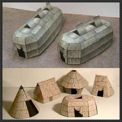 Indian Paper Crafts - american architecture free papercrafts
