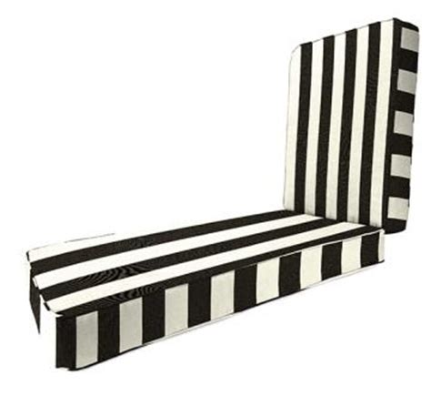 Black And White Striped Chaise Lounge Cushions copy cat chic pottery barn black and white striped chaise