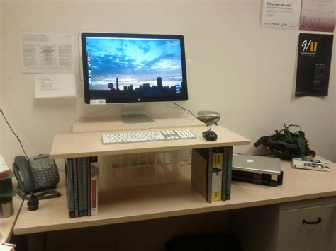 build your own sit stand desk make your own standing desk employee wellness
